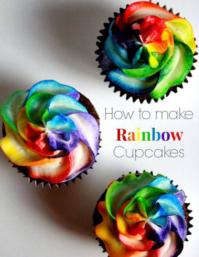 Cupcakes glaçage rainbow