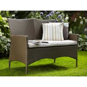 veronique garden rattan bench