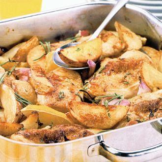 Κοτόπουλο Λεμονάτο με πατάτες