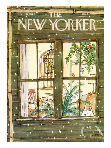 The New Yorker Cover - January 9, 1978 Poster Print by George Booth at the Condé Nast Collection