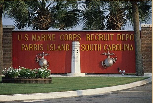 USMC paris island hahaha had to do it. it is a part of my life trip... d ...