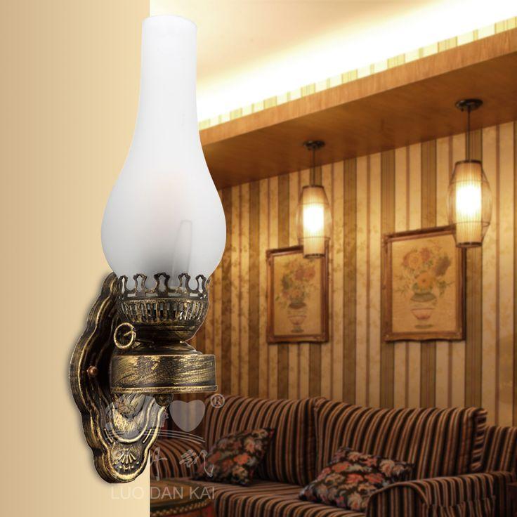 pas cher appliques or bronze de cuivre vintage mur lanterne lampe p trole personnalis lampe. Black Bedroom Furniture Sets. Home Design Ideas