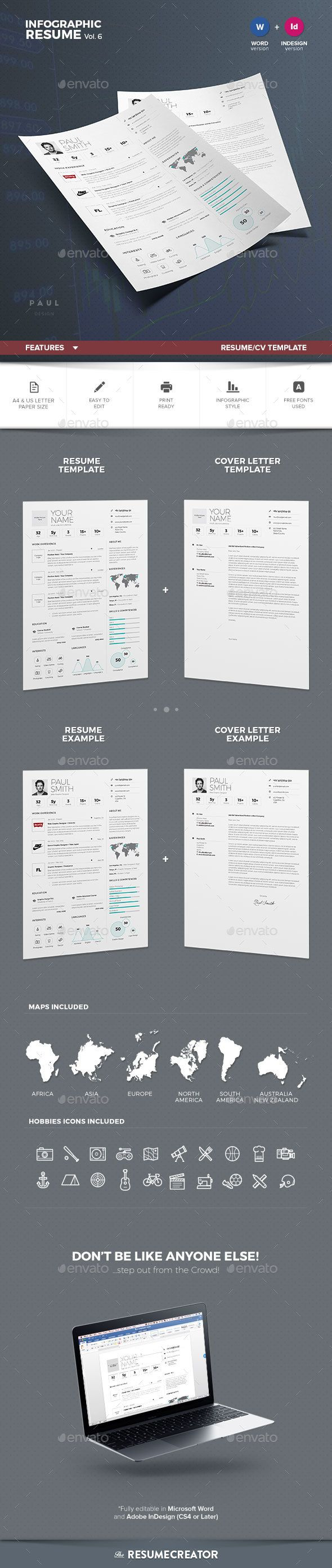 Infographic Resume/Cv Volume 6