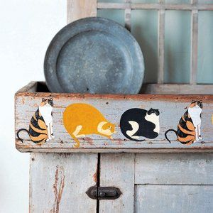 Wallies Warren Kimble Cats Wall Decal Cats, Cat