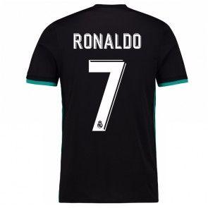 Real Madrid Cristiano Ronaldo 7 Venkovní Dres 17-18 Krátký Rukáv