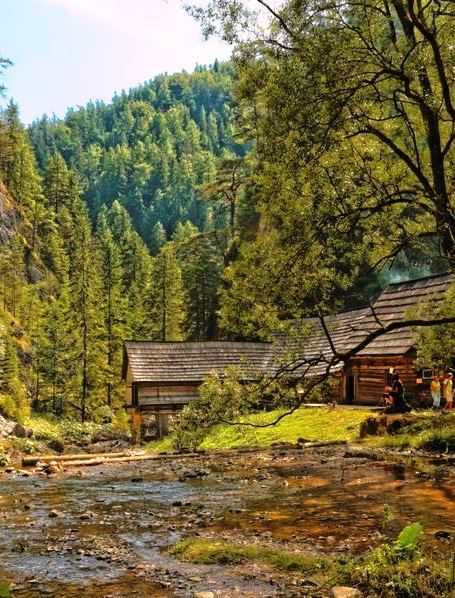 Oblazy in Kvačianska valley  An old water mill is now refurbished as tourist attraction. #hiking #slovakia
