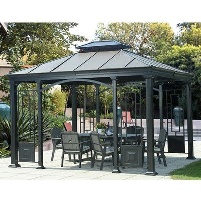 Sunjoy Wonderland 12 Ft. W x 10 Ft. D Steel Gazebo & Reviews | Wayfair