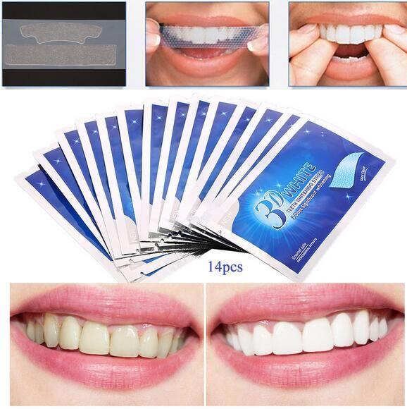 28Pcs/14Pair 3D White Gel Teeth Whitening Strips Oral Hygiene Care Double Elastic Teeth Strips Whitening Dental Bleaching Tools #Affiliate http://getfreecharcoaltoothpaste.tumblr.com