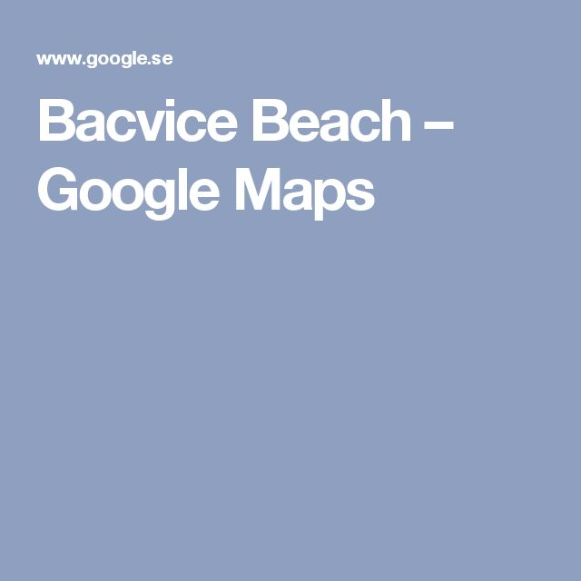 Bacvice Beach – Google Maps