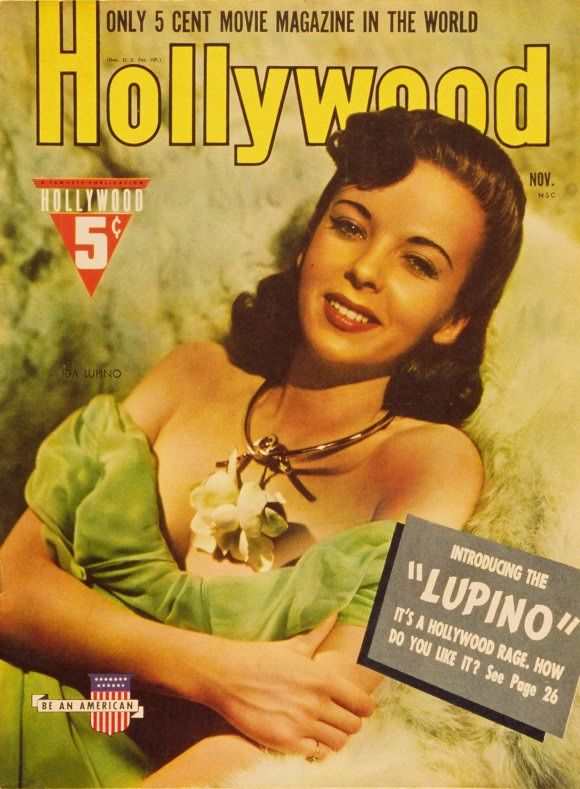 "Ida Lupino on the cover of ""Hollywood"" magazine"