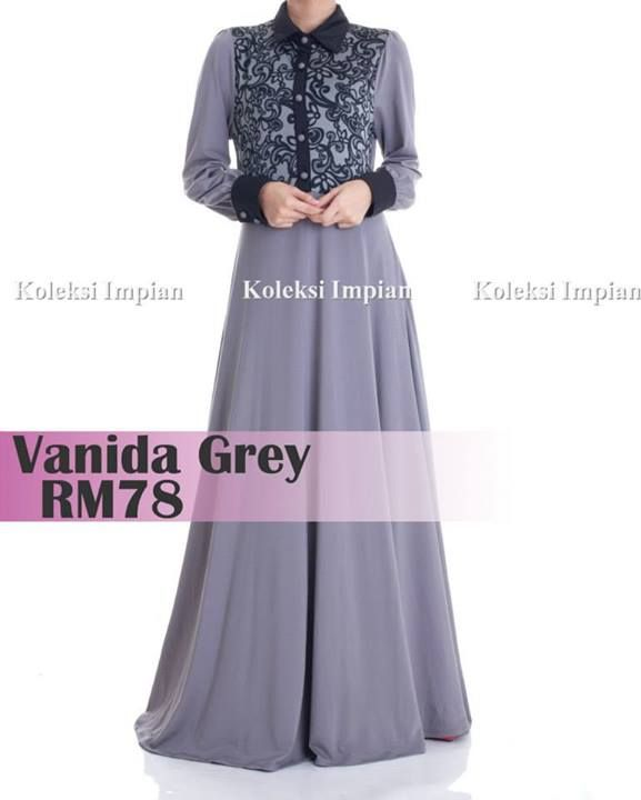 Princess Dress - Vanida Grey RM 78 jubah impian online boutique (facebook)