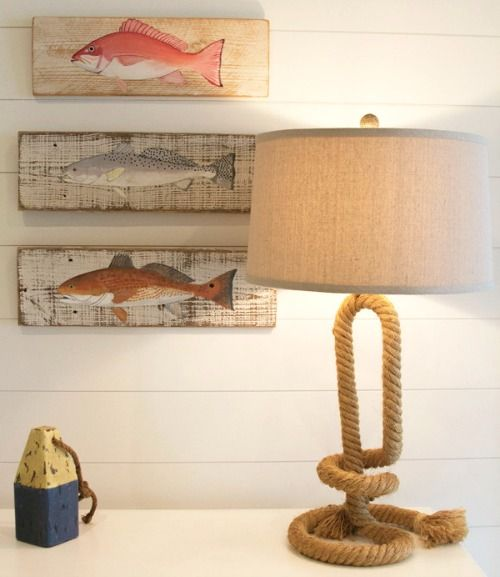Sea Worthy Rope Table Lamp In A Florida Home