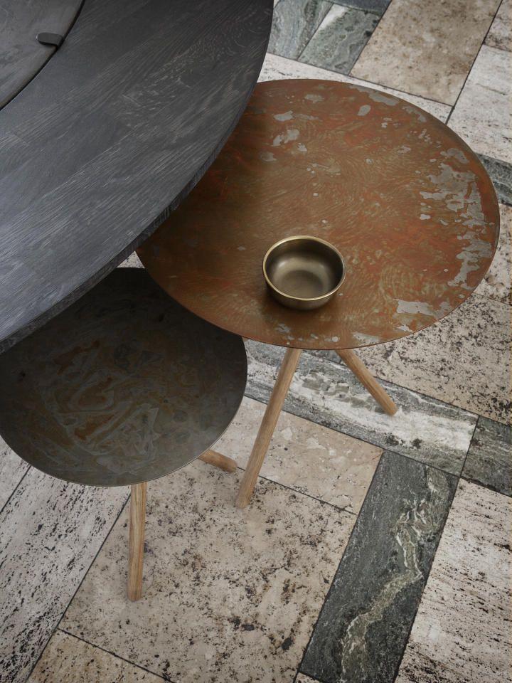 #table #sidetable #steel #steeltable #oak #oaklegs #stool #chair #danishdesign #eberhartfurniture