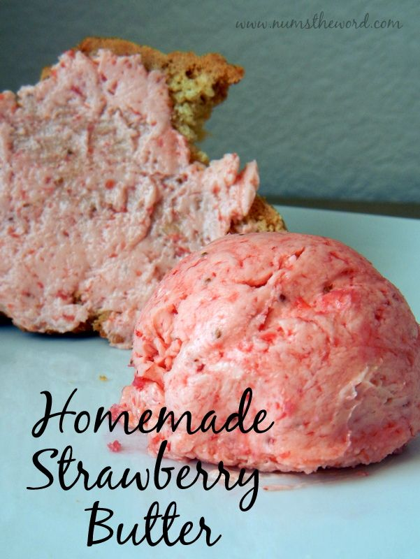 This chunk free strawberry butter is easy to make and adds a boost to so many great breakfast items.  Tastes great and has 4 ingredients!