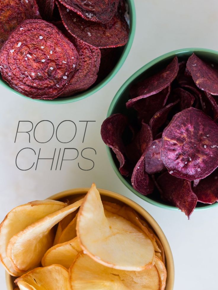 A recipe for Root Chips... YES!!!  All I can say is get a mandolin for this!!! And even Danielle liked these! I did turnip beet and sweet potatoe and I will make these again