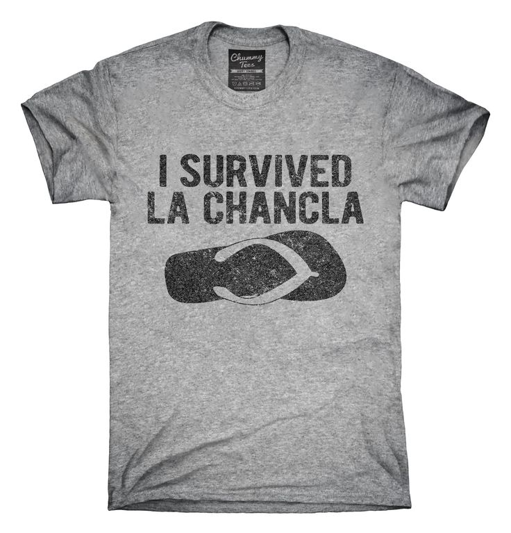 You can order this I Survived La Chancla Funny Mexican Humor t-shirt design on several different sizes, colors, and styles of shirts including short sleeve shirts, hoodies, and tank tops.  Each shirt is digitally printed when ordered, and shipped from Northern California.