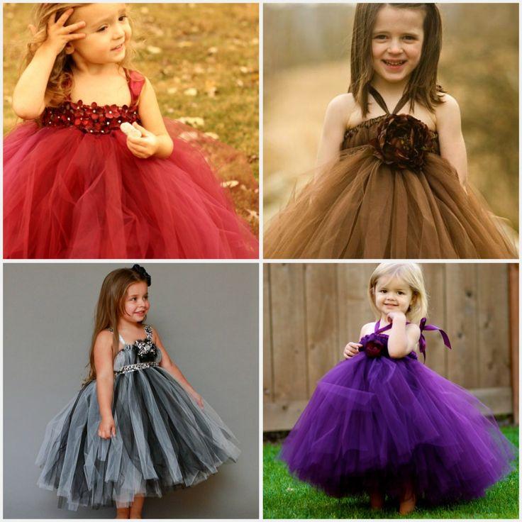 tulle dress diy | DIY tulle flower girl dresses! : wedding brown diy red Flower+girl ...