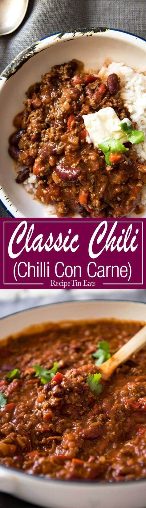 This hearty classic is made with beef in a richly spiced tomato sauce.. Even better the next day! www.recipetineats.com. Easy