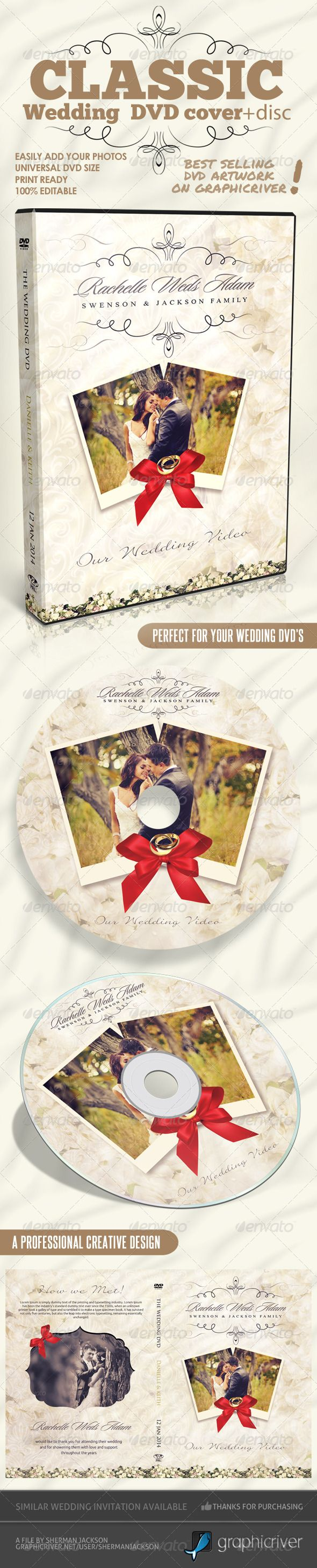 Classique Wedding DVD Covers  #wedding dvd • Available here → http://graphicriver.net/item/classique-wedding-dvd-covers/6370014?s_rank=138&ref=pxcr