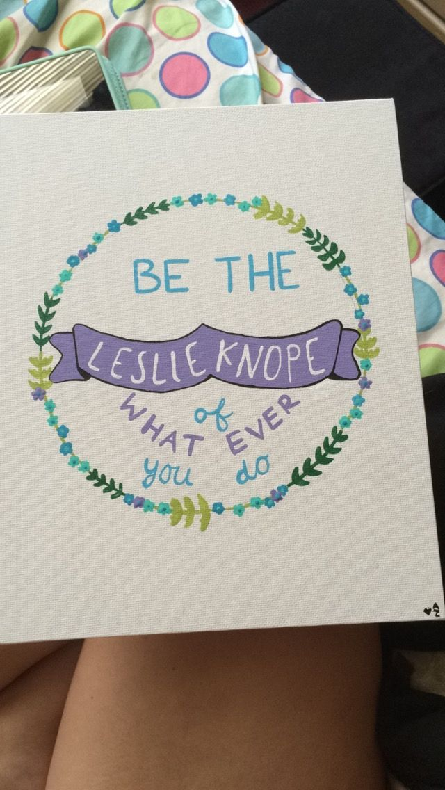 Parks And Rec canvas. Leslie Knope.