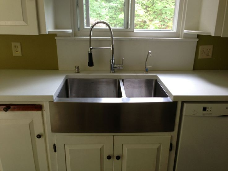 Retrofit Farmhouse Sink : ... sink with concrete countertop huge beautiful steel sink i want one see