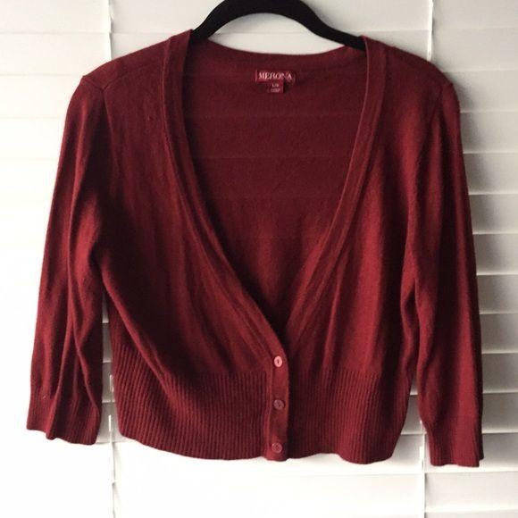 Merona maroon cardigan Maroon cardigan- can be worn buttoned or unbuttoned! Merona Sweaters Cardigans