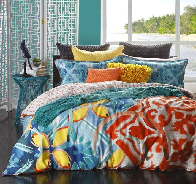 Piper Quilt Cover Set Range Jade | Manchester Warehouse