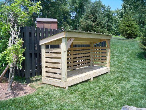 """These custom wood sheds feature a high-drying capacity. Each custom wood shed is built in place, a bit off the ground (the """"Breathable Below"""" feature), to allow ventilation from underneath the shed as well as from all sides."""