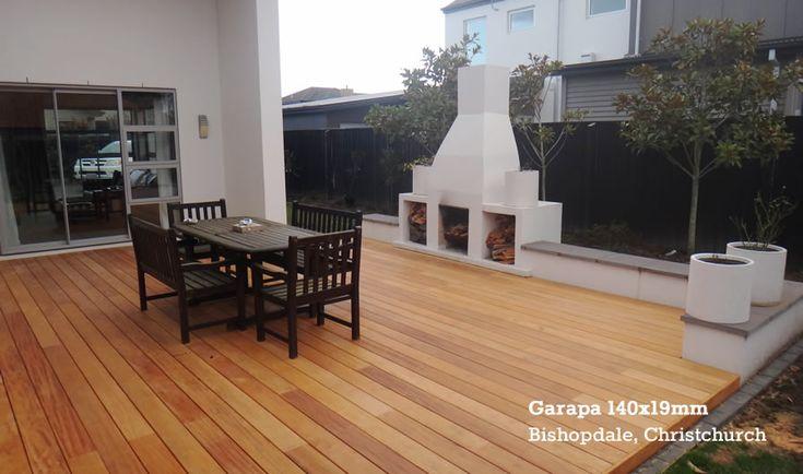 Garapa Decking Outdoor Living. Thick cut $12.43 per meter. Regular cut $7.57per meter
