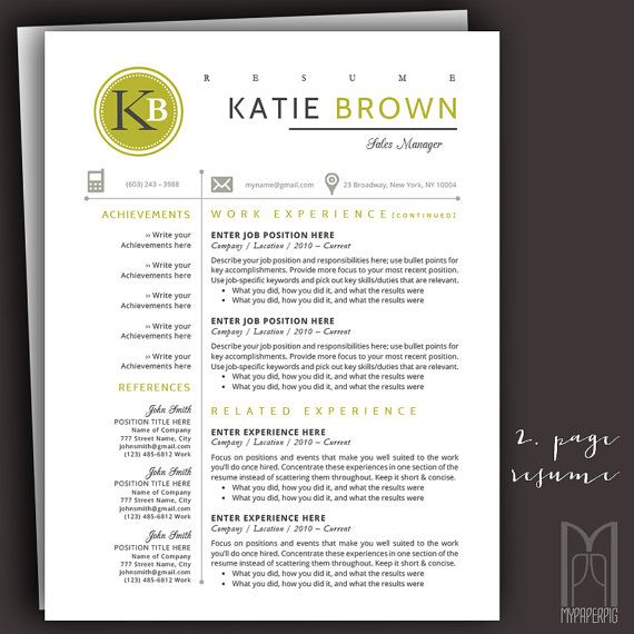 15 best Modern \ Creative RESUME TEMPLATES -- (CUSTOM NAME HEADER - mac resume template