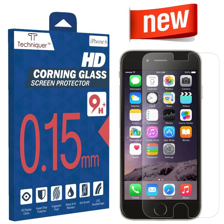 """iPhone 6 Corning Gorilla Tempered Glass Screen Protector Kit[4.7""""] ONLY 0.15mm,9H,Oleophobic Surface,2.5D,Anti-Scratch,Anti-Glare,Fingerprint-Proof,& Water Resistant. Only at Amazon http://www.amazon.com/Corning-Gorilla-Tempered-Protector-Thinnest/dp/B00RK7OPZC"""