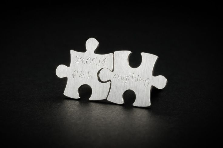 Puzzle cufflinks // handmade in sterling silver