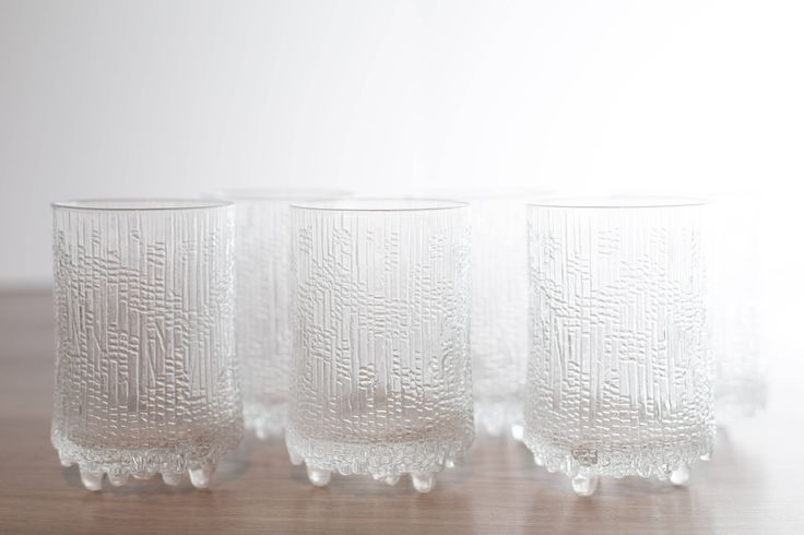 Littala Utima Thule Crystal Glasses / Frosty Scandinavian Finnish Style Frosted Finland Cocktail Glasses / Mid Century Modern Ice Norwegian by secondvoyagevintage on Etsy https://www.etsy.com/ca/listing/534820240/littala-utima-thule-crystal-glasses
