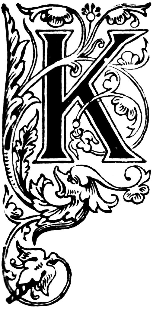 Illuminated Letters Alphabet