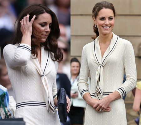 All About Kate Middleton's: Kate's all white: Duchess of Cambridge sticks with Wimbledon dress code to cheer on Murray.