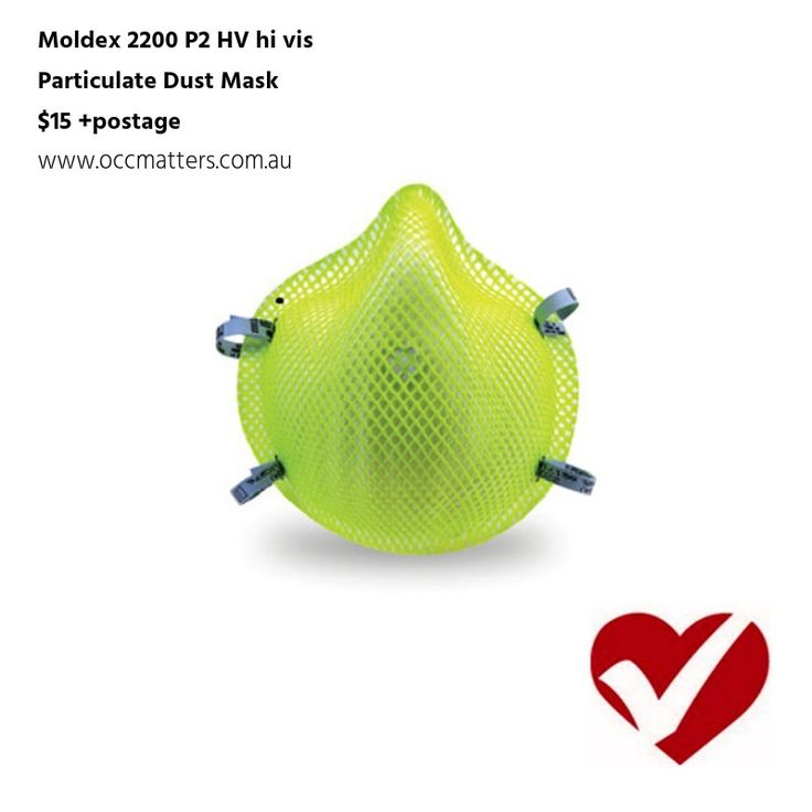 100% PVC-Free.  High visibility green colour stands out in a crowd.  Easy compliance checks.  Collapse-resistant Dura-Mesh shell.  Contour molded nose bridge comfortably fits the wearer's face.  No uncomfortable metal noseband to pinch.  Softspun inner lining feels soft on the face.  Soft foam nose cushion eliminates pressure points.  Proven durability and cost savings.  Meets heat and flame resistance in accordance with AS/NZS 1716:2003 Resistance to Flame Test  Look for the…