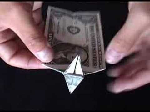 ▶ Money Origami   Dollar Bill Origami Dog - Made from a one Dollar Bill Note - YouTube