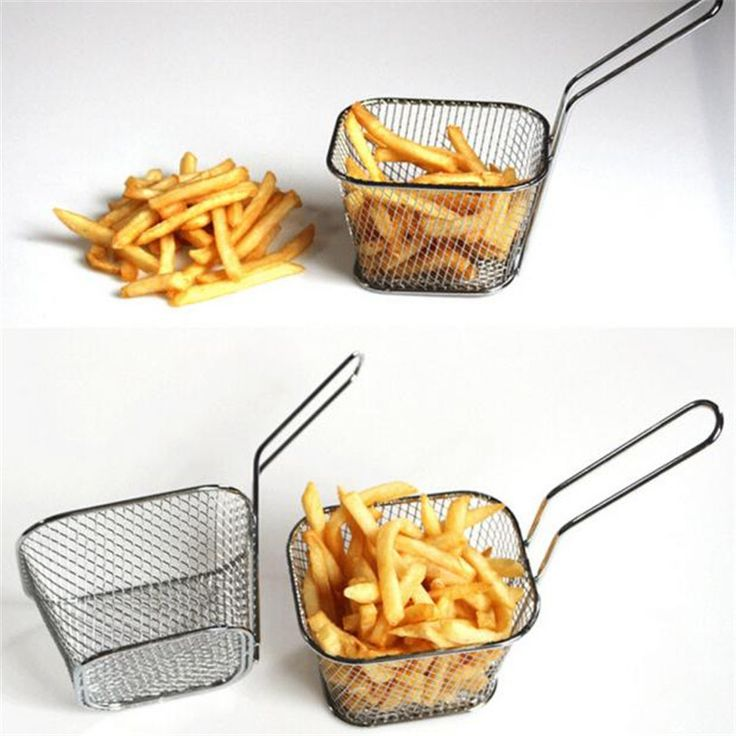 Electroplate Stainless Steel Mini Frying net square block Kitchen Colanders and Strainers jan24