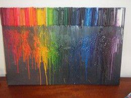 Melted crayon art! Isn't it beautiful?
