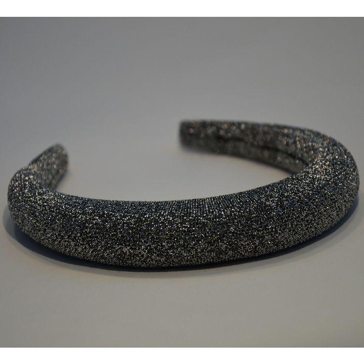Padded Band - Sparkle/Silver. 2.5cm Padded Band.  #gabianona #hairfashion #happyhead