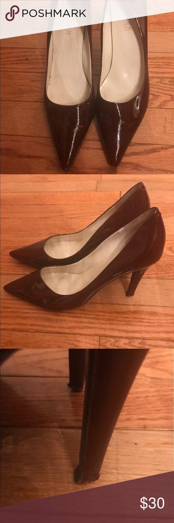 Ralph Lauren Patent Leather Burgundy Heels Beautiful Burgundy Patent Leather Ralph Lauren Heels (Size 8) Lauren Ralph Lauren Shoes Heels