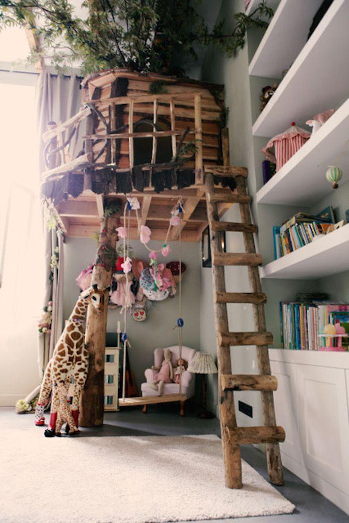 de droom van ieder kind een chte boomhut in de slaapkamer roomed