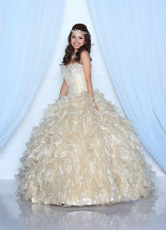 Excelentes vestidos de 15 años estilo princesa   Tendencias