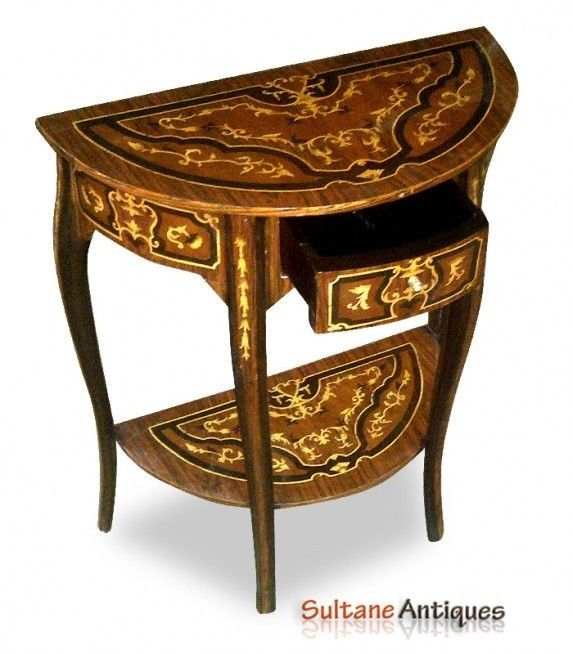 superb marquetry french louis xv style console m bel. Black Bedroom Furniture Sets. Home Design Ideas