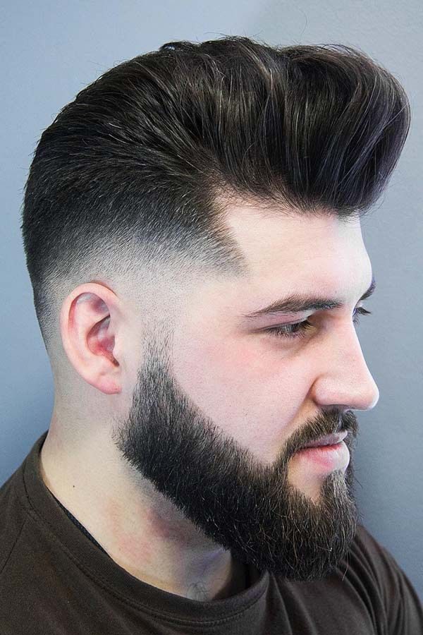 Medium Length Hairstyles That Will Keep You On The Edge Pompadour Fade Haircut Mens Hairstyles Mens Hairstyles Pompadour