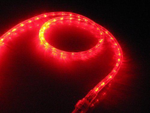 25ft Red Led Rope Light Kit For 12v System Christmas Lighting