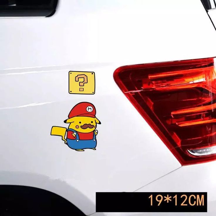 Super mario pokemon car decal