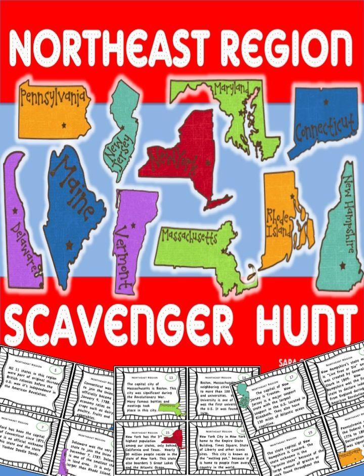 Northeast Region Scavenger Hunt U S Regions