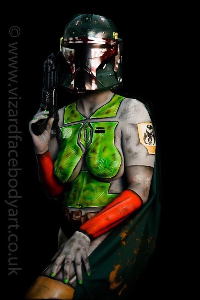 Boba Fett Star Wars Face Paint Face Painting Body Art Body
