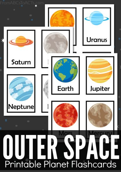 Plan out an awesome space themed unit study and learn about the various planets in our solar system with these fun printable outer space themed flashcards!